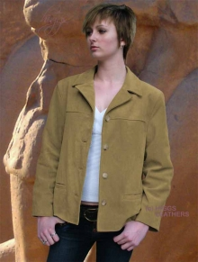 Higgs Leathers ONE ONLY UNDER HALF PRICE!  Jenny (ladies beige suede jackets)